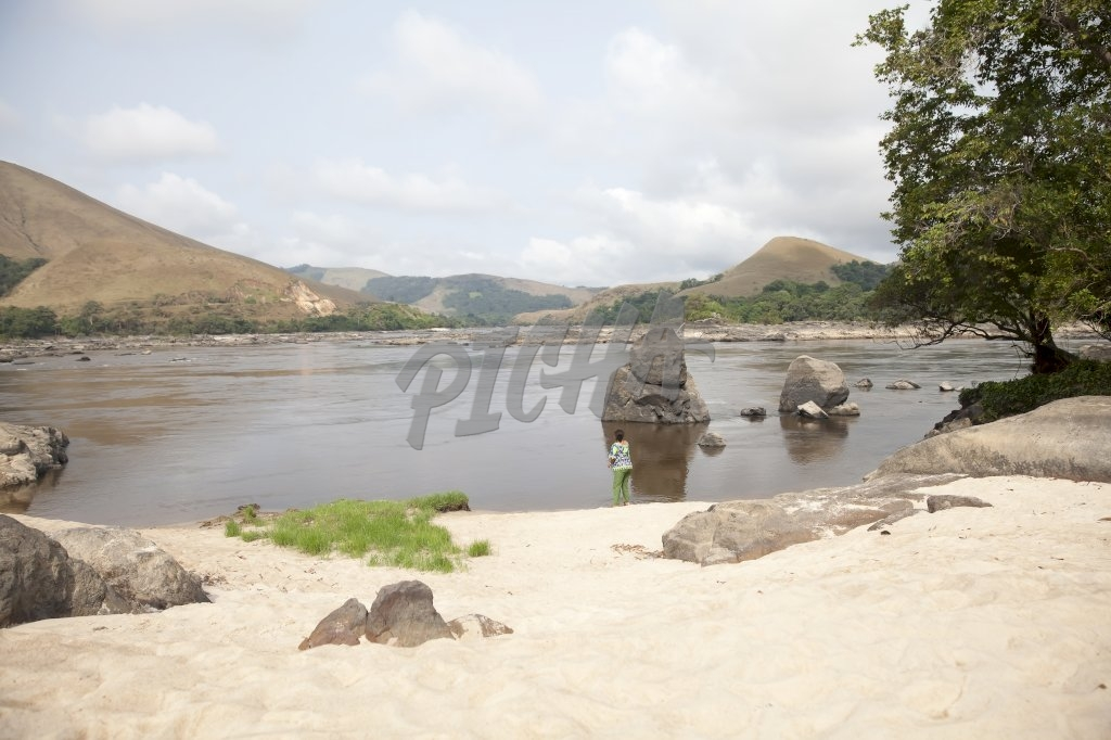 View of Ogoue river in Lope, Gabon