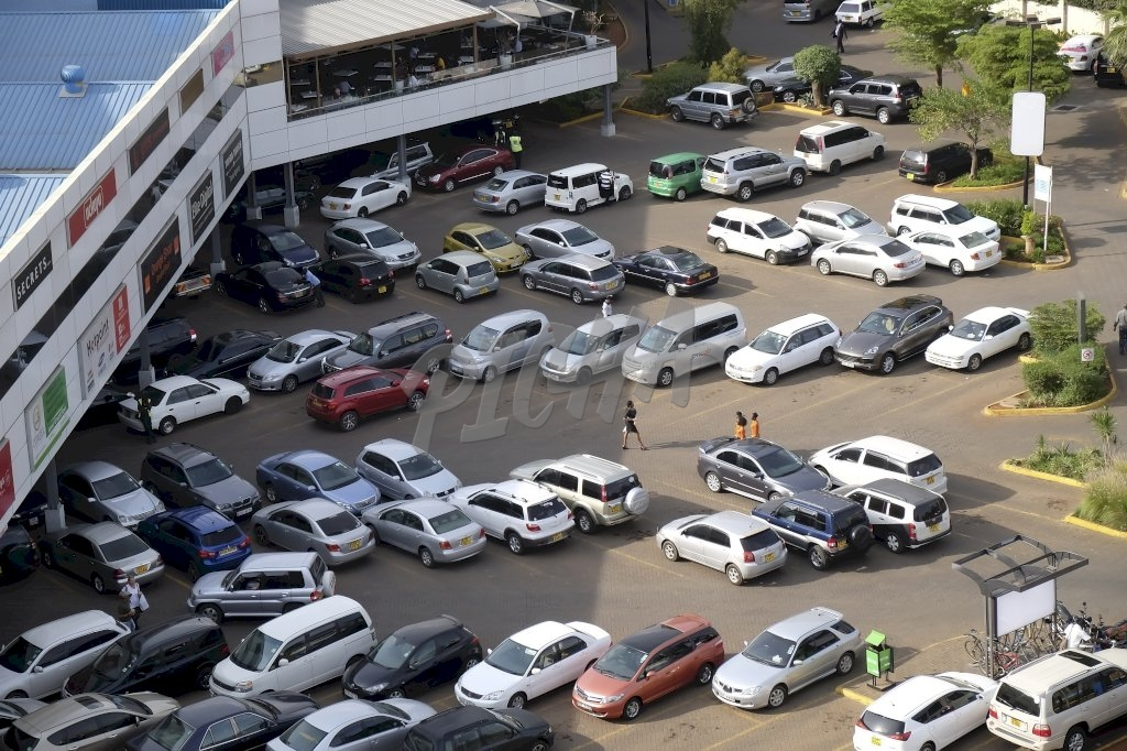 Mall parking in Nairobi