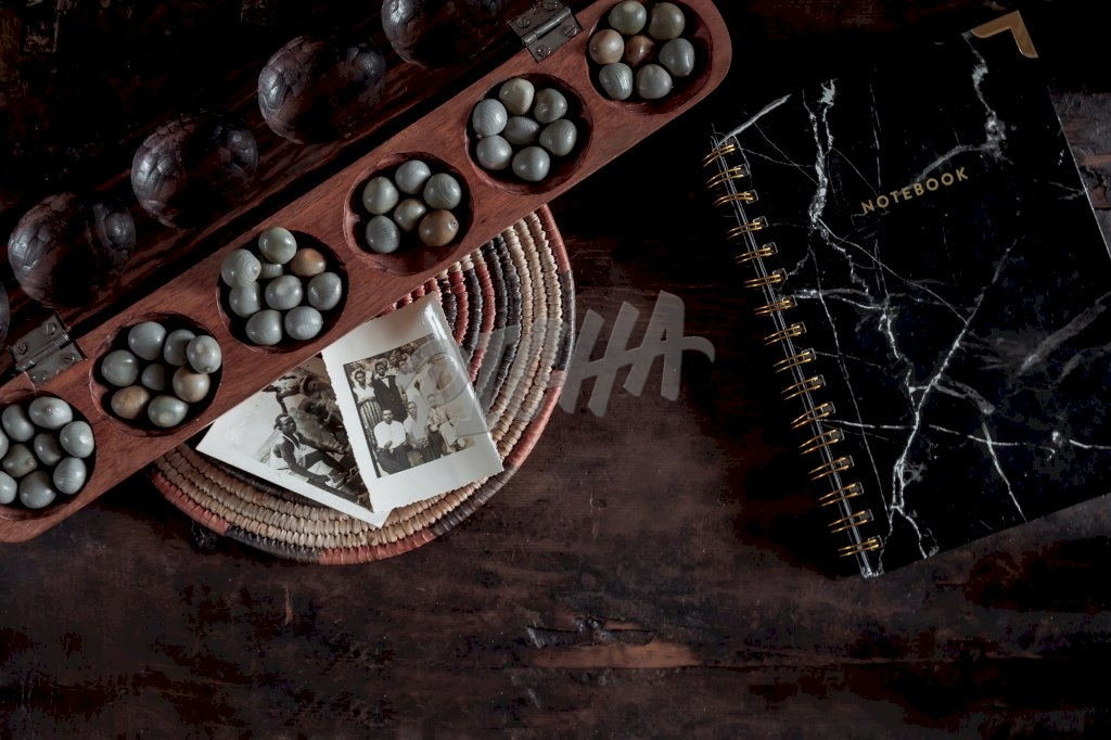 African awale game flatlay