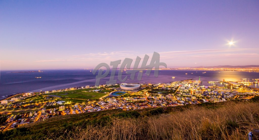 View of Cape Town (Greenpoint) from Signal Hill