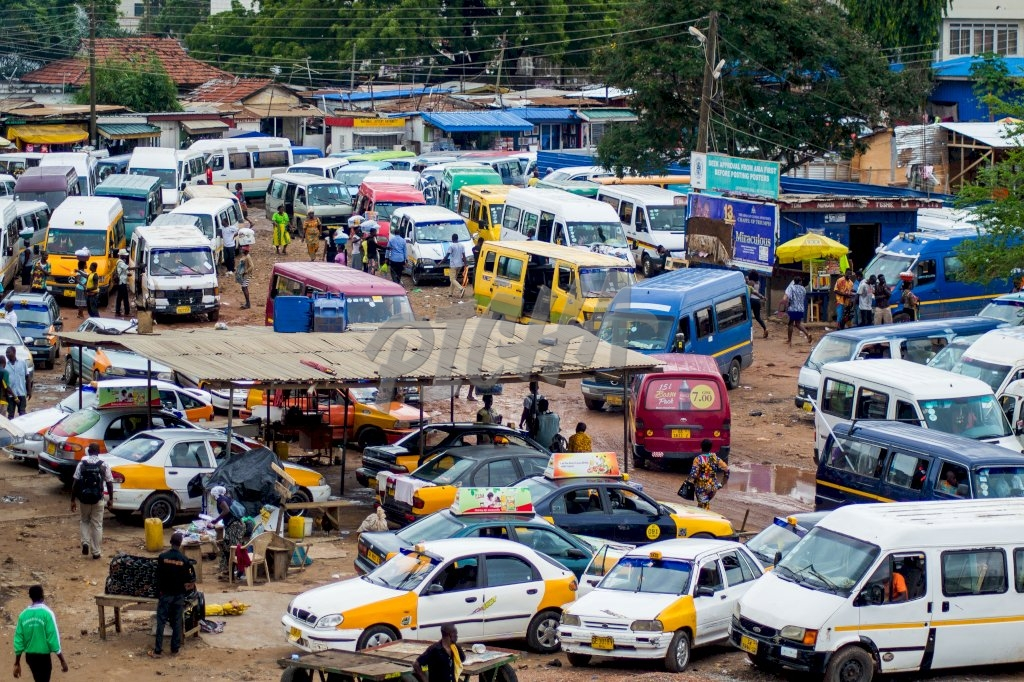 Taxi station in Accra
