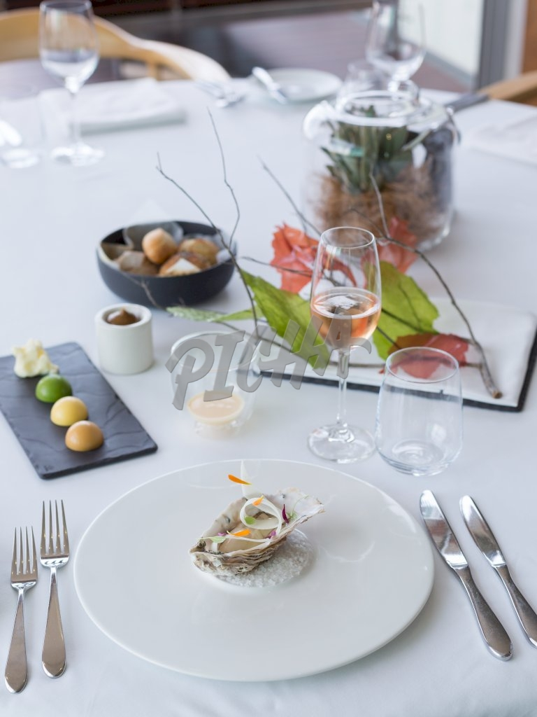 Oyster on a plate