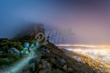 Night light over Cape Town