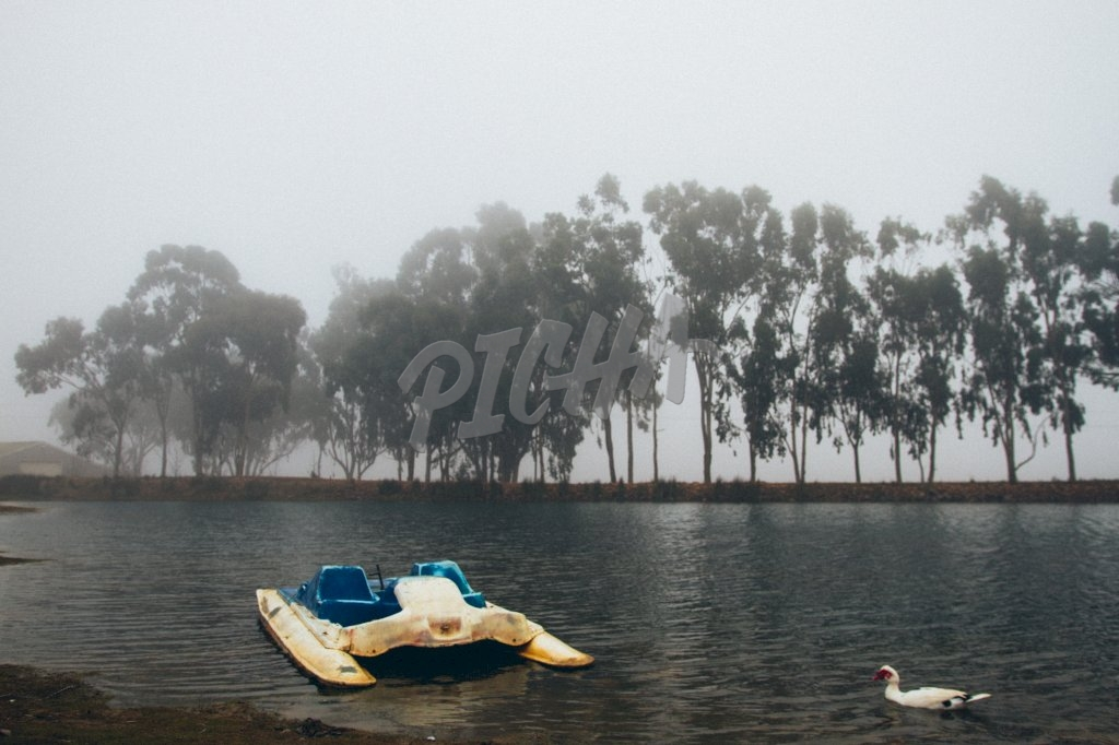Double pedalo by the lake in Matroosberg, South Africa