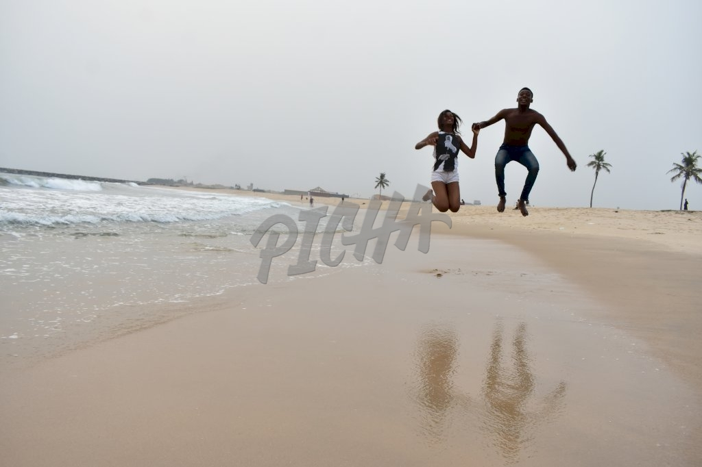Playful at the beach
