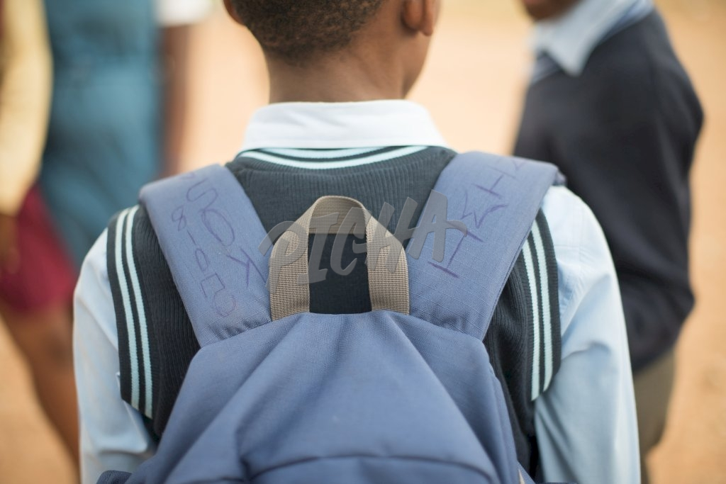 Student carrying a backpack