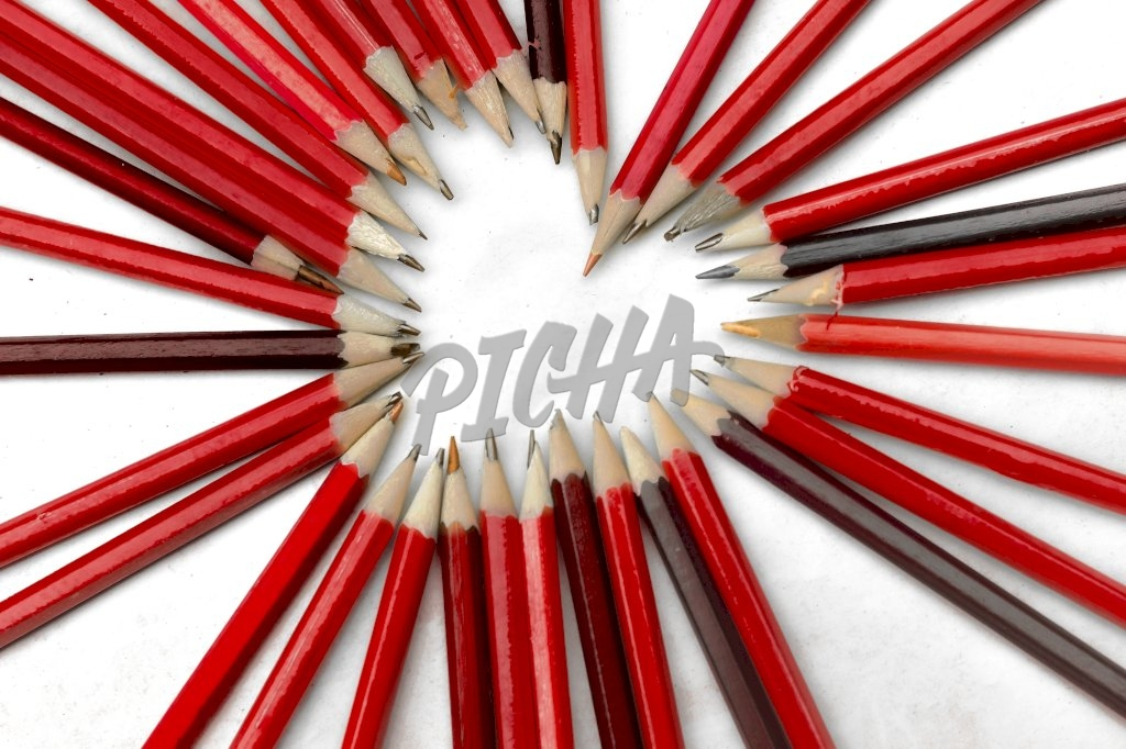 red pencils hearts