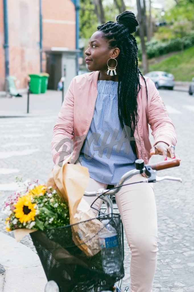 Woman and her bike