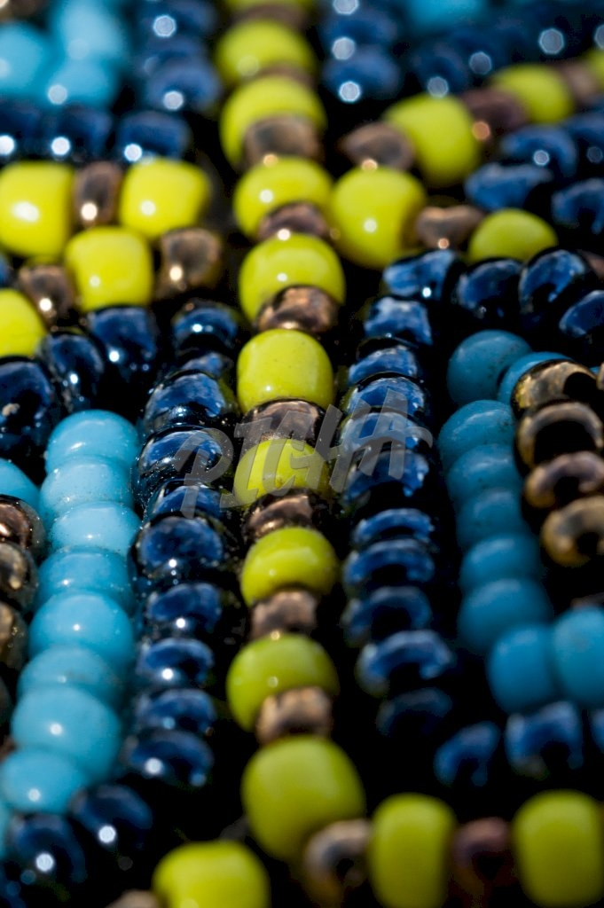 Beads in a pattern