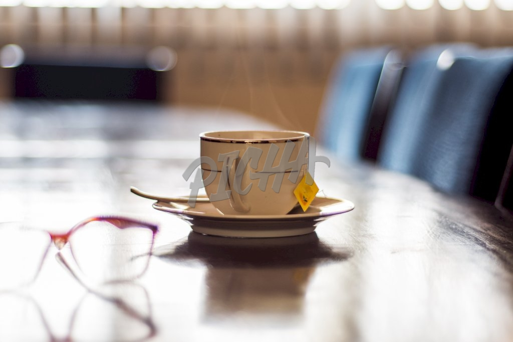 Cup on table