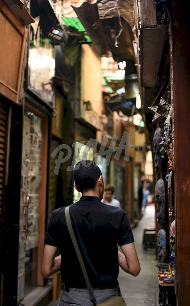 Walking in the street of Cairo, Egypt
