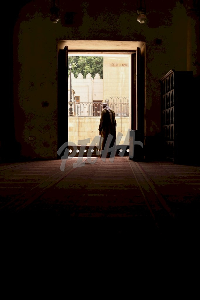 View from the inside of a Mosque in Cairo, Egypt