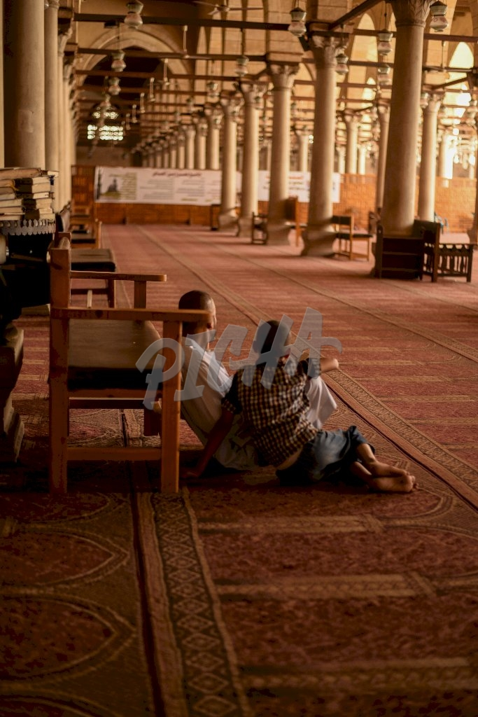 Inside of a Mosque in Cairo, Egypt