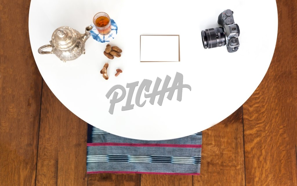 Flatlay on a white table