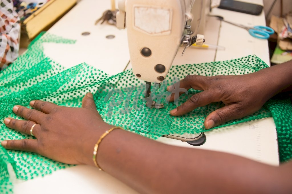 Sewing with a sewing machine