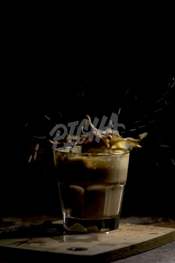 Coffee drink splash
