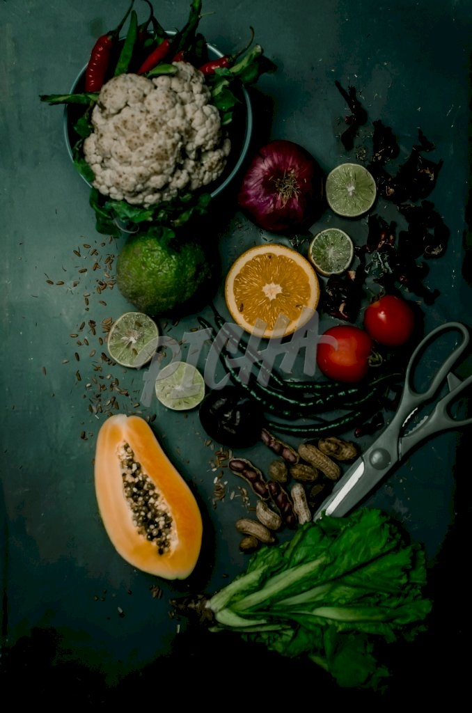 Assortment of vegetable and fruits