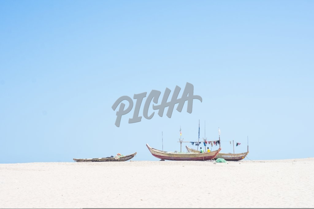 Fishing boats on the sand