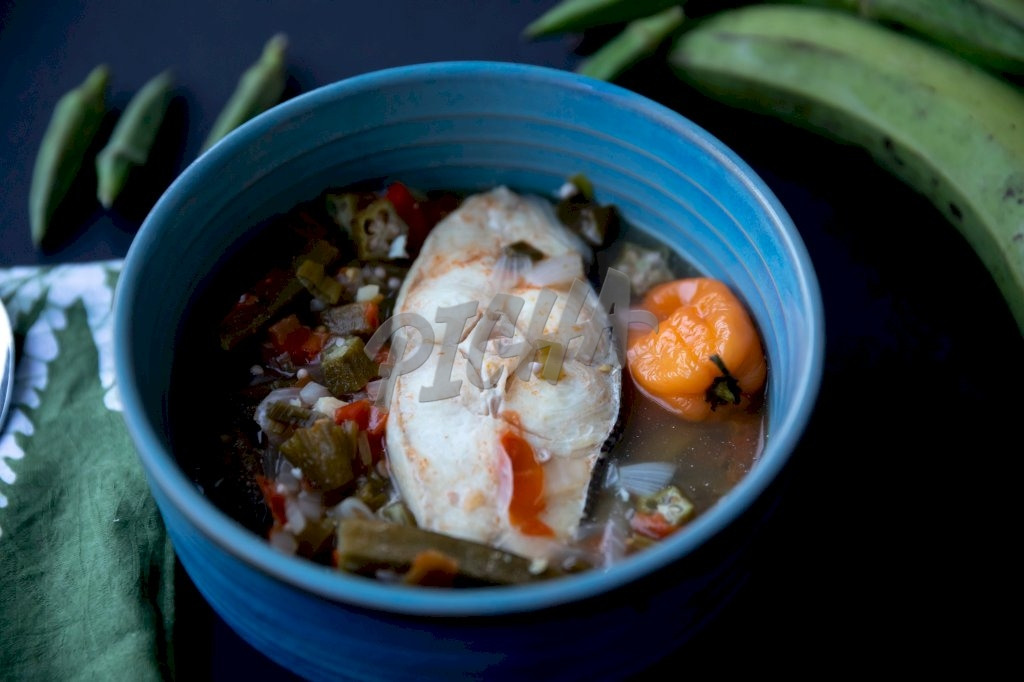 Fish stew with okra