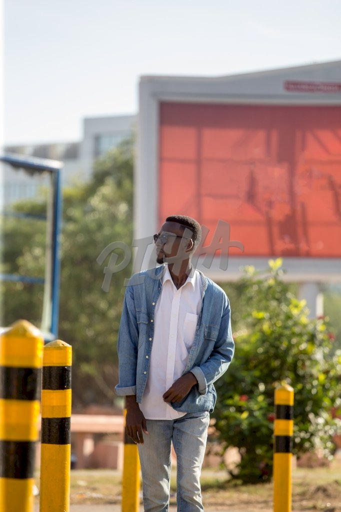 Young Man in the street of Accra
