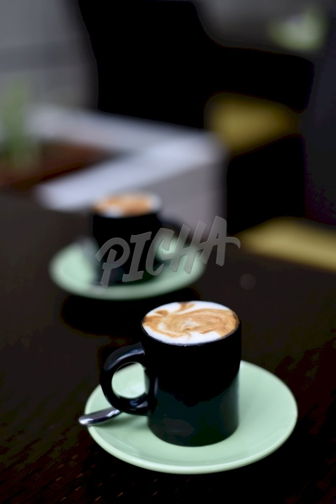 A cup of latte to start the day