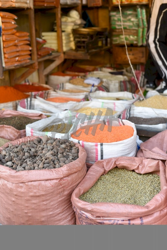 Spices and Grain market