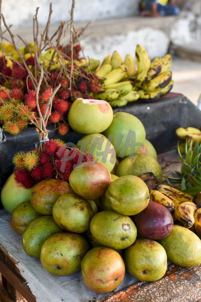 some fruit laid out for sale