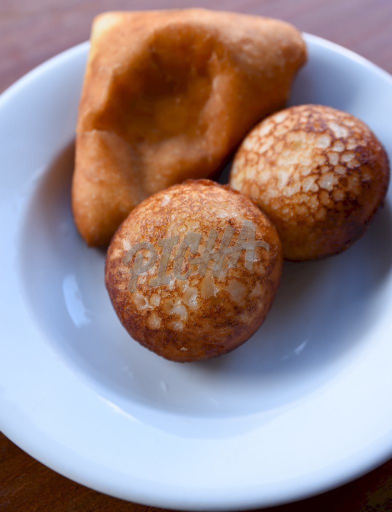 fried cakes on a plate
