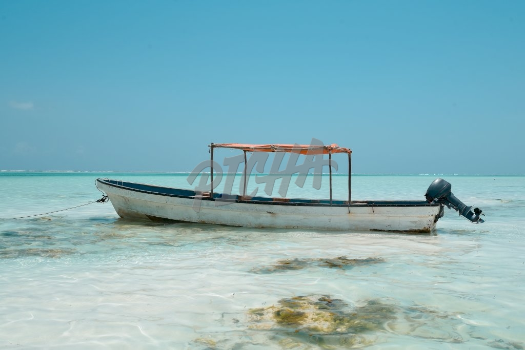 Boat await tourists by the shore
