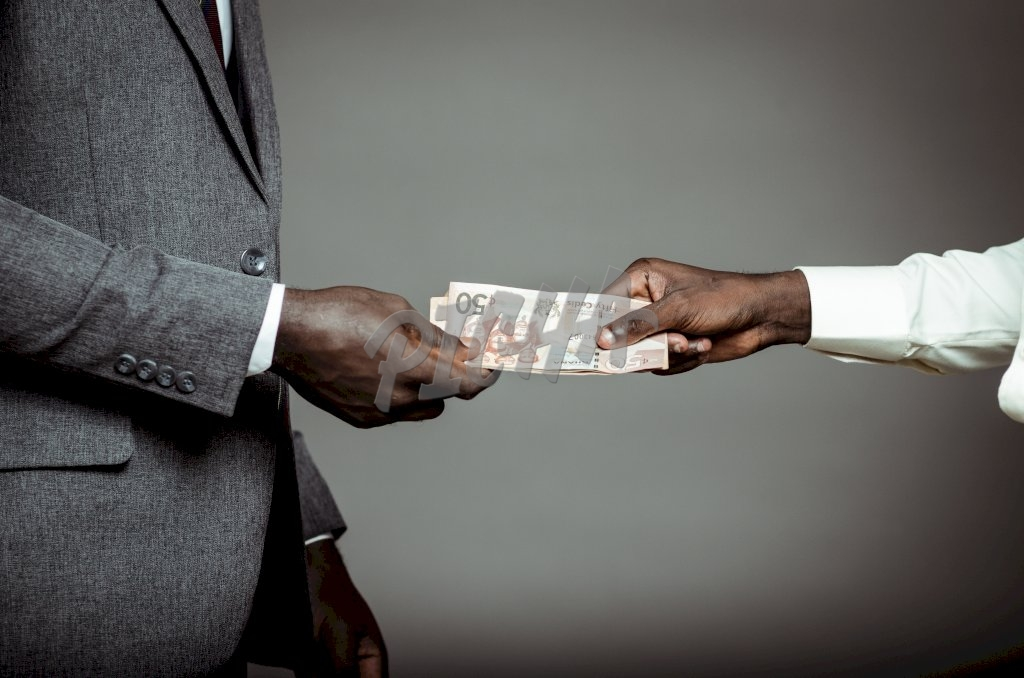Hand exchange of money