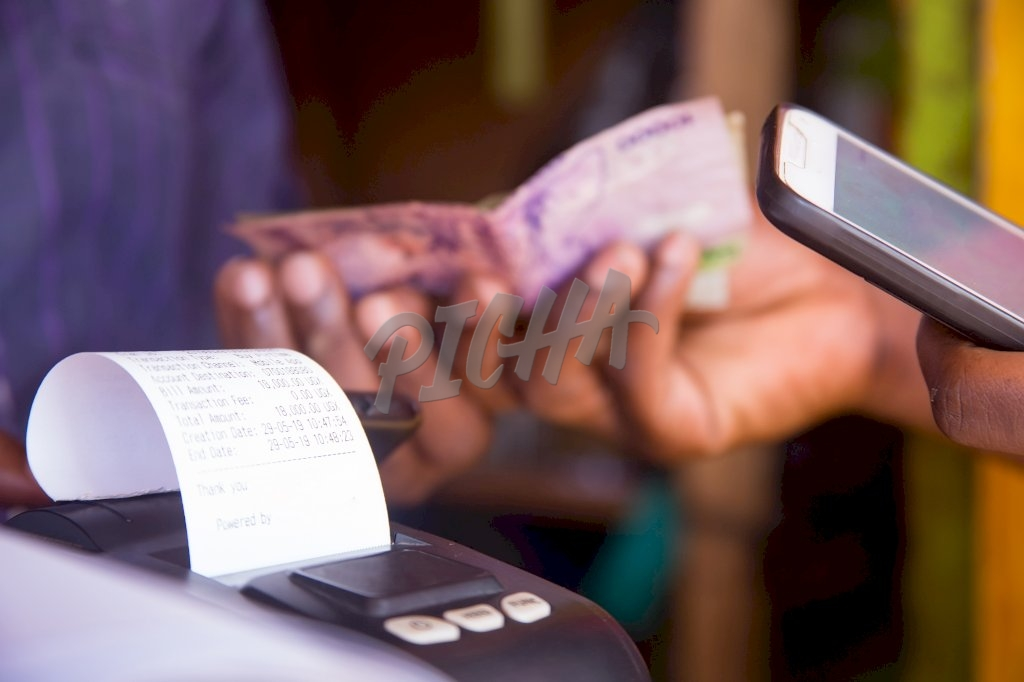 money exchanges hands in a transaction