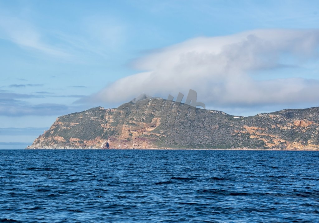 A Cape Point landscape from the water