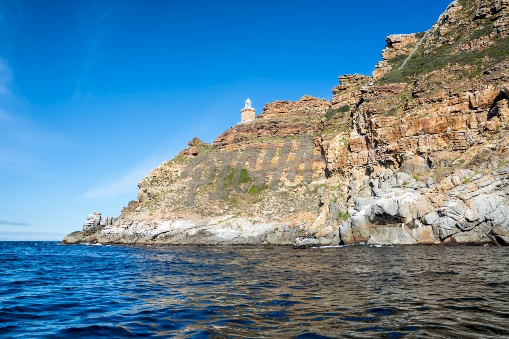Cape Point landscape from the water