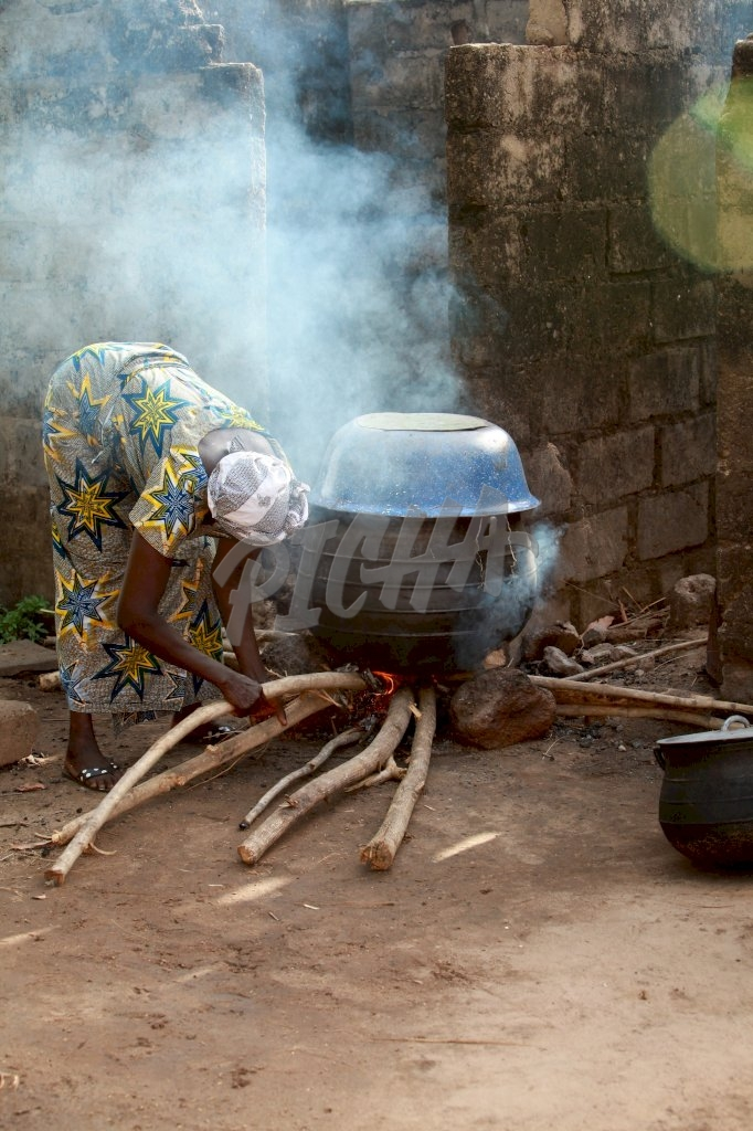 woman cooking outdoor