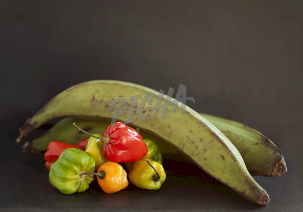 Green plantain and hot pepper