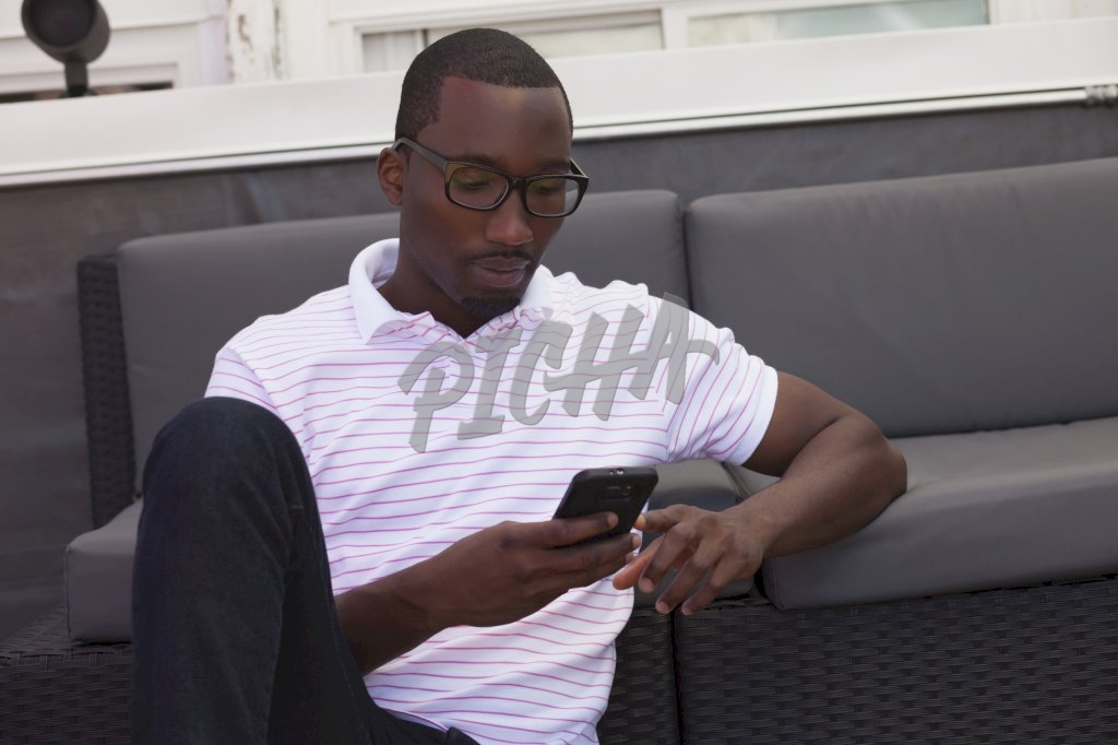 Man sitting with phone