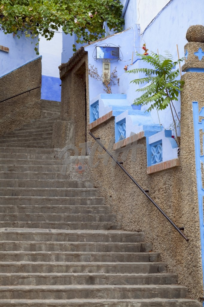 Stairs at Chefchaouen
