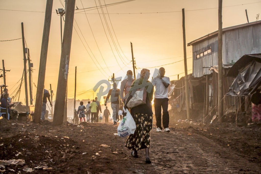 Morning Sunrise in Kibera