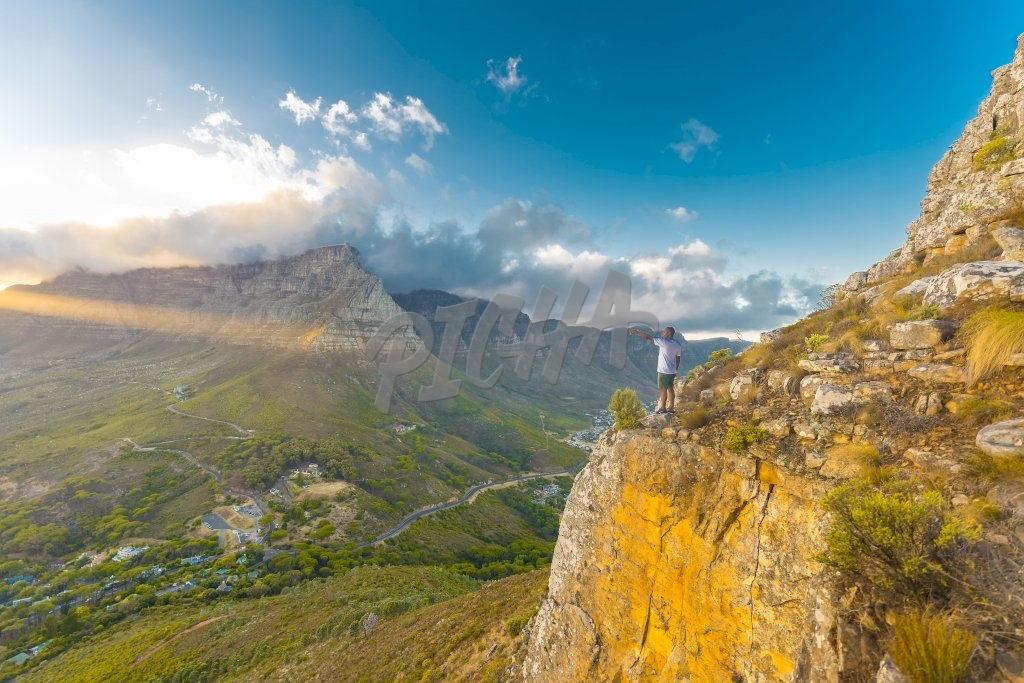 Man standing in nature, South Africa