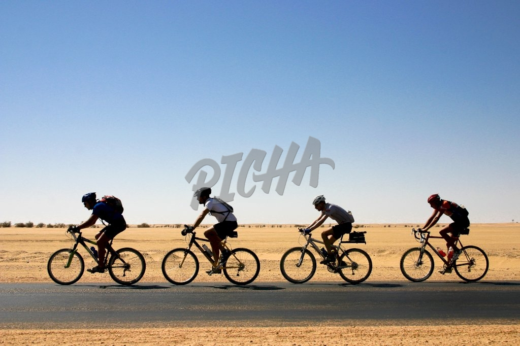 Cyclists in Sahara Desert| Sudan