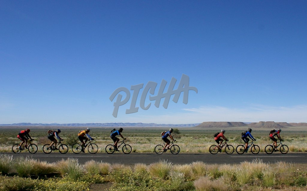 Cyclists in Northern Cape South Africa