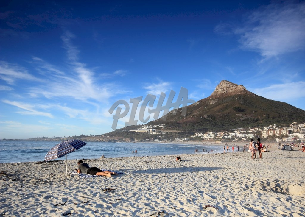 A day at the beach in Cape Town, South Africa