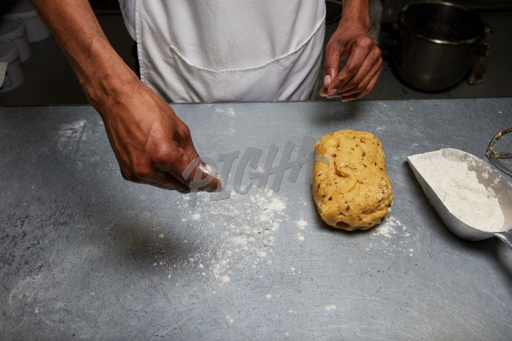 A chef's at work
