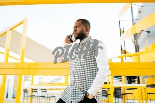 Man having a conversation on the phone