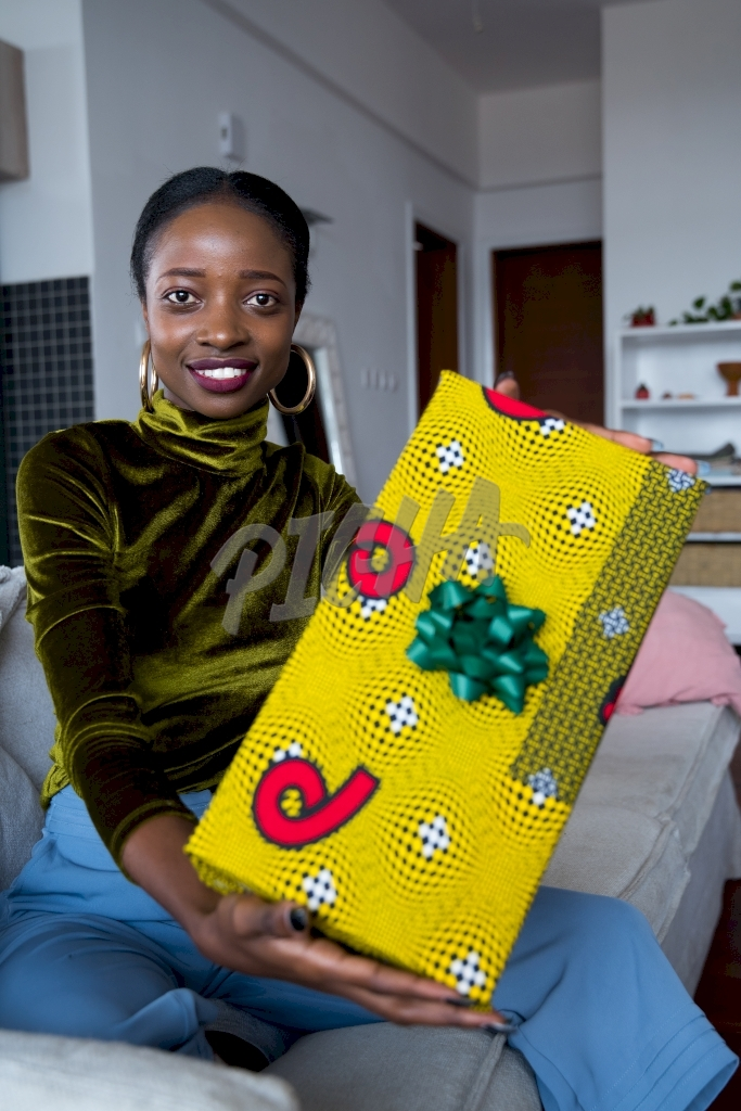 Holding a gift box