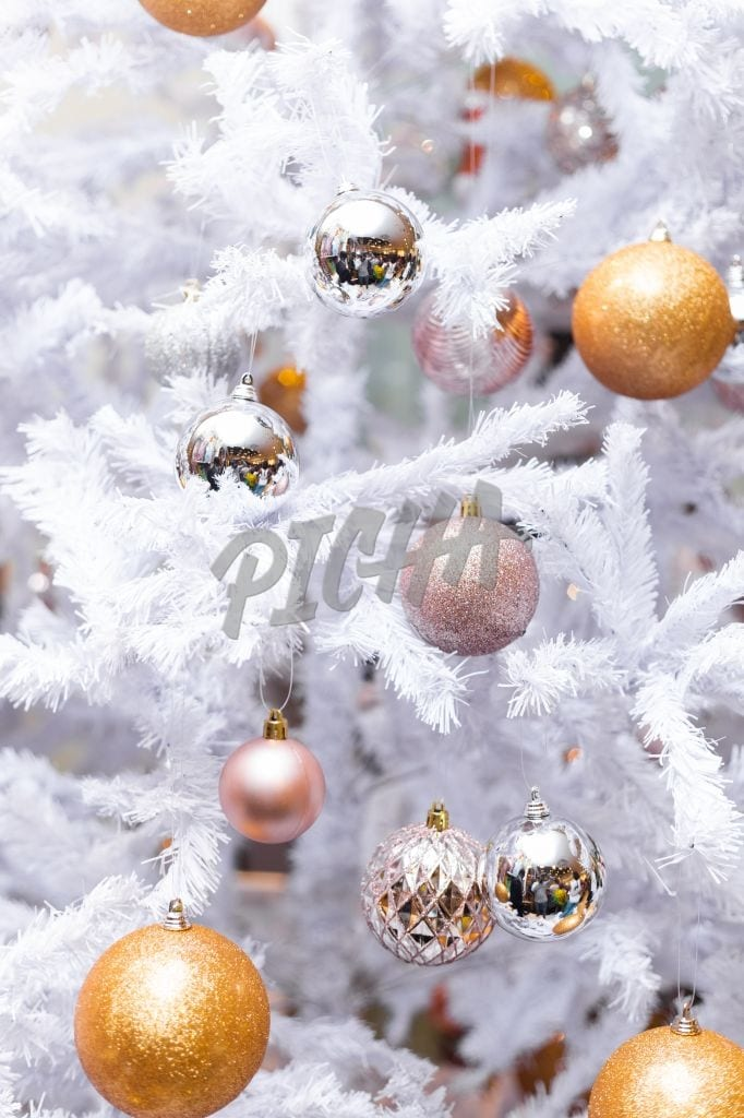 Christmas tree with decor