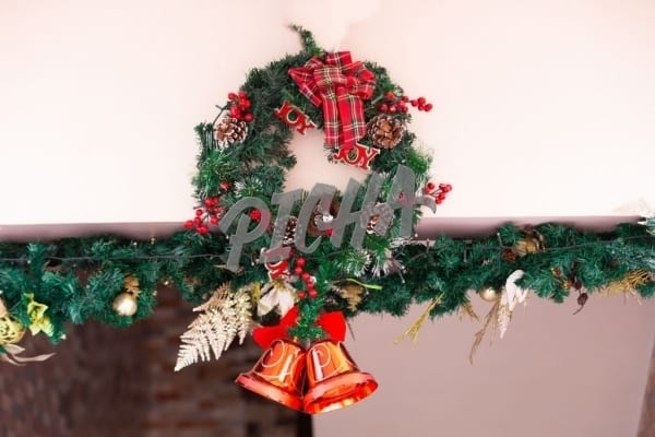 Christmas  Wreath with red bells