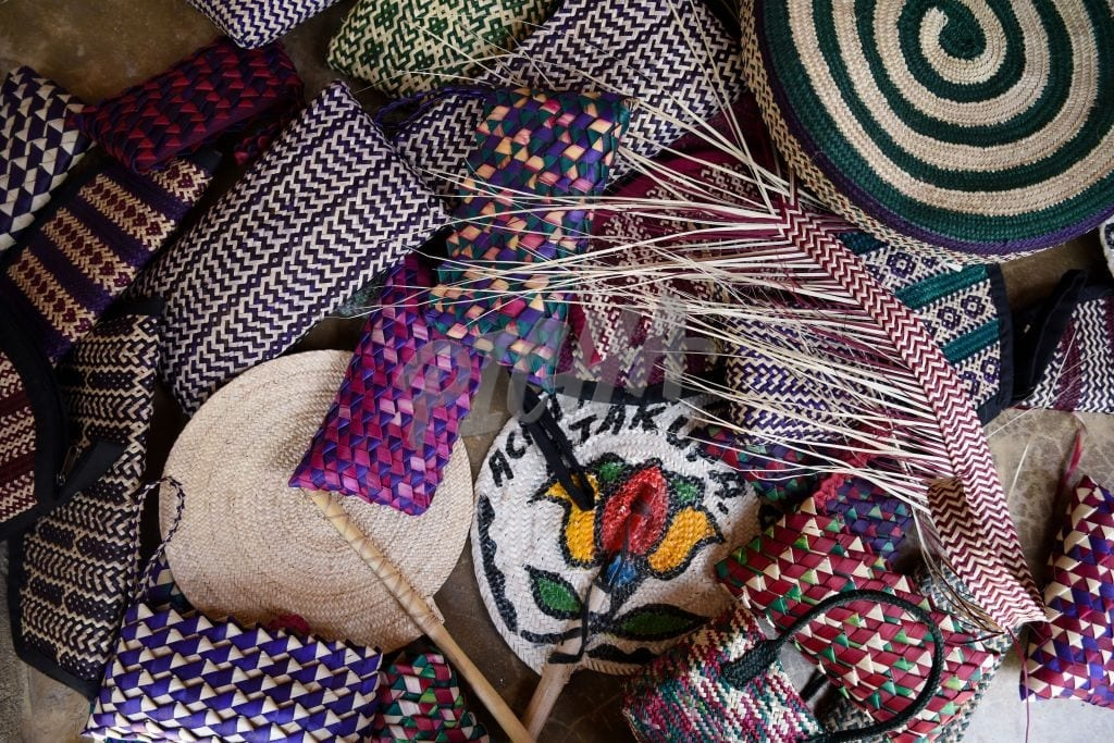 A set of woven items
