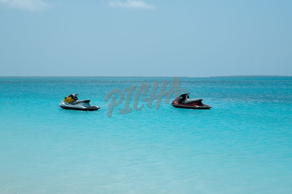 A pair of jet skis