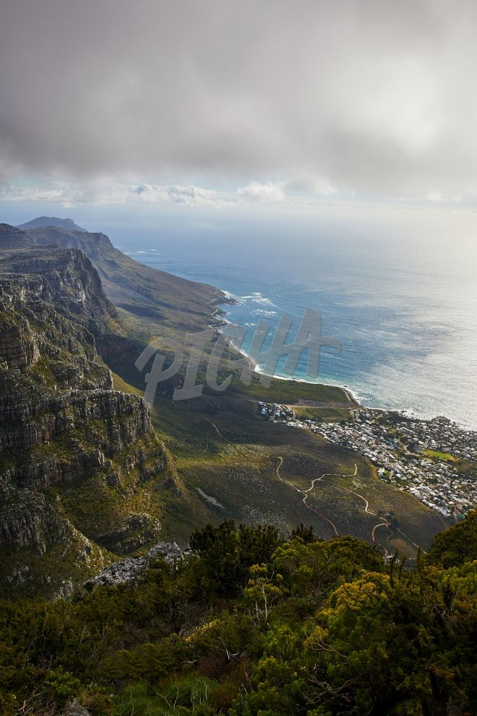 Landscape of Camps Bay from Table Mountain
